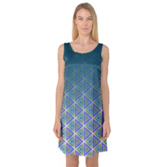 Ombre Retro Geometric Pattern Sleeveless Satin Nightdress by DanaeStudio