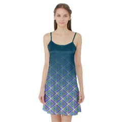 Ombre Retro Geometric Pattern Satin Night Slip by DanaeStudio