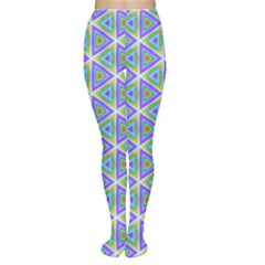 Colorful Retro Geometric Pattern Tights by DanaeStudio