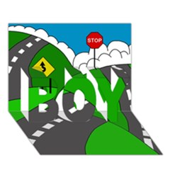 Hit The Road Boy 3d Greeting Card (7x5) by Valentinaart