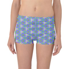 Colorful Retro Geometric Pattern Boyleg Bikini Bottoms by DanaeStudio