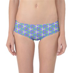 Colorful Retro Geometric Pattern Classic Bikini Bottoms by DanaeStudio