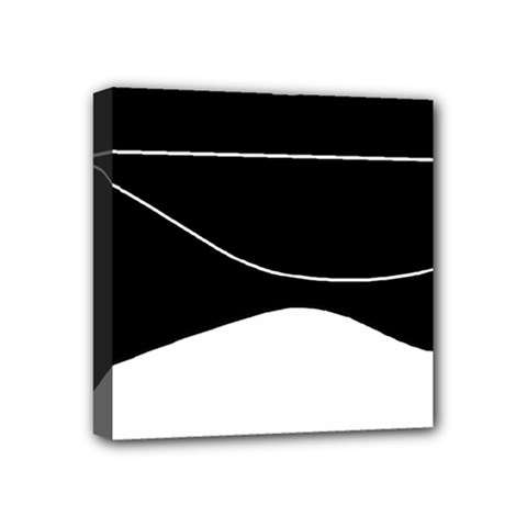 Black And White Mini Canvas 4  X 4  by Valentinaart