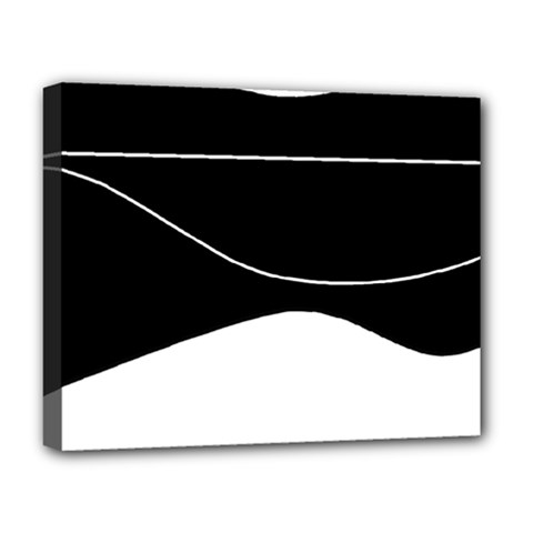 Black And White Deluxe Canvas 20  X 16   by Valentinaart