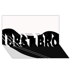 White And Black Abstraction Best Bro 3d Greeting Card (8x4)