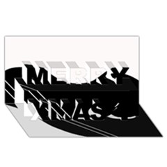 White And Black Abstraction Merry Xmas 3d Greeting Card (8x4) by Valentinaart