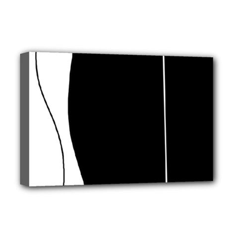 White And Black 2 Deluxe Canvas 18  X 12   by Valentinaart