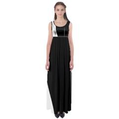 White And Black 2 Empire Waist Maxi Dress by Valentinaart