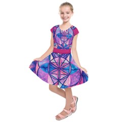 Feminine Interconnectedness   Kids  Short Sleeve Dress