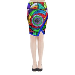 I Trust Myself To Create   Midi Wrap Pencil Skirt
