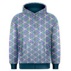 Colorful Retro Geometric Pattern Men s Zipper Hoodie by DanaeStudio