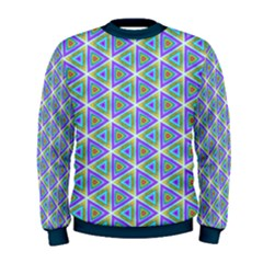 Colorful Retro Geometric Pattern Men s Sweatshirt by DanaeStudio
