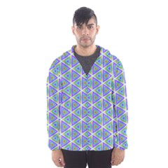 Colorful Retro Geometric Pattern Hooded Wind Breaker (men) by DanaeStudio