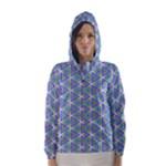 Colorful Retro Geometric Pattern Hooded Wind Breaker (Women)