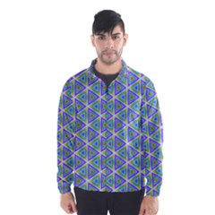 Colorful Retro Geometric Pattern Wind Breaker (men) by DanaeStudio