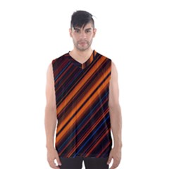Background Pattern Lines Men s Basketball Tank Top by Zeze
