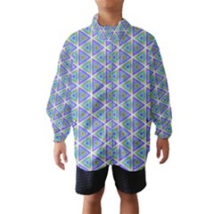 Colorful Retro Geometric Pattern Wind Breaker (kids) by DanaeStudio