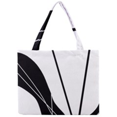 White And Black  Mini Tote Bag by Valentinaart