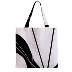 White And Black  Zipper Grocery Tote Bag by Valentinaart