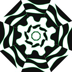 Green, White And Black Hook Handle Umbrellas (medium) by Valentinaart