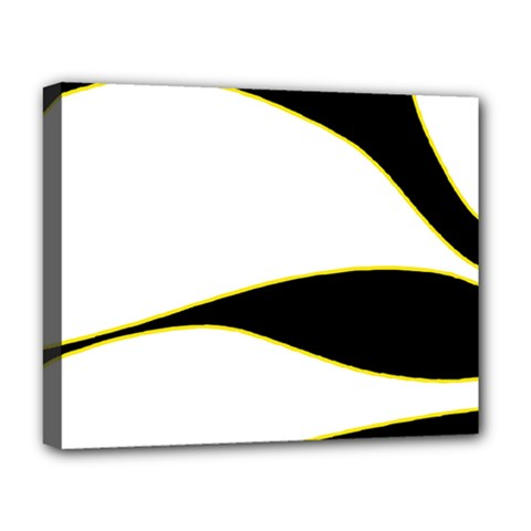 Yellow, Black And White Deluxe Canvas 20  X 16   by Valentinaart