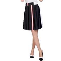 White, Red And Black A Line Skirt by Valentinaart