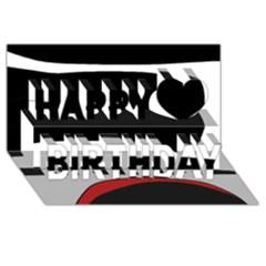 Fantasy Happy Birthday 3d Greeting Card (8x4)