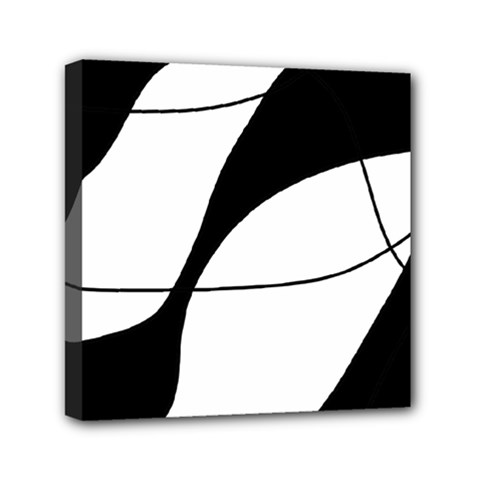 White And Black Shadow Mini Canvas 6  X 6  by Valentinaart