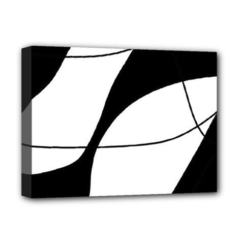 White And Black Shadow Deluxe Canvas 16  X 12   by Valentinaart