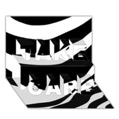 White or black TAKE CARE 3D Greeting Card (7x5)