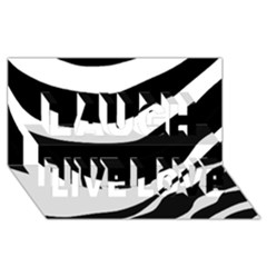 White Or Black Laugh Live Love 3d Greeting Card (8x4) by Valentinaart