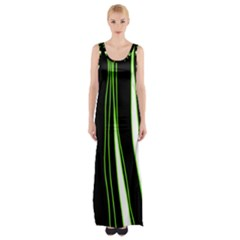 Colorful lines harmony Maxi Thigh Split Dress by Valentinaart