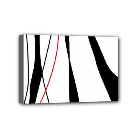 Red, White And Black Elegant Design Mini Canvas 6  X 4  by Valentinaart