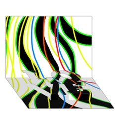 Colorful lines - abstract art LOVE Bottom 3D Greeting Card (7x5)