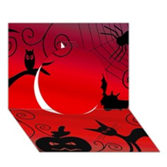 Halloween landscape Circle 3D Greeting Card (7x5) by Valentinaart