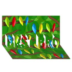 Parrots Flock Best Bro 3d Greeting Card (8x4)