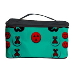 Dancing In Polka Dots Cosmetic Storage Case by pepitasart