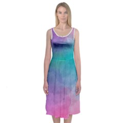 Watercolored Dress Midi Sleeveless Dress by Contest2519804