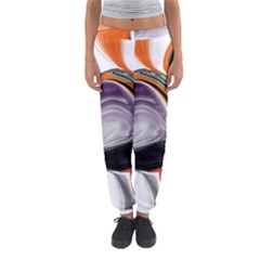 Abstract Orb In Orange, Purple, Green, And Black Women s Jogger Sweatpants by theunrulyartist