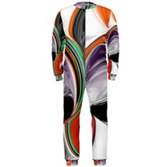 Abstract Orb In Orange, Purple, Green, And Black Onepiece Jumpsuit (men)
