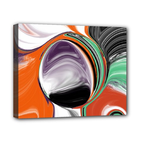 Abstract Orb In Orange, Purple, Green, And Black Canvas 10  X 8  by theunrulyartist
