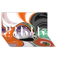 Abstract Orb In Orange, Purple, Green, And Black #1 Dad 3d Greeting Card (8x4) by theunrulyartist
