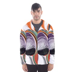 Abstract Orb in Orange, Purple, Green, and Black Hooded Wind Breaker (Men) by theunrulyartist