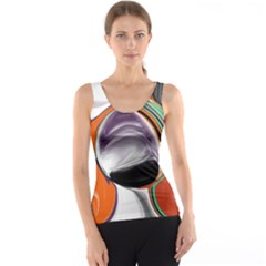 Abstract Orb Tank Top by theunrulyartist