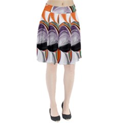 Abstract Orb Pleated Skirt by theunrulyartist