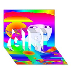 Abstract Color Dream Girl 3d Greeting Card (7x5) by icarusismartdesigns