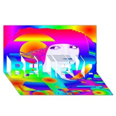 Abstract Color Dream Believe 3d Greeting Card (8x4) by icarusismartdesigns