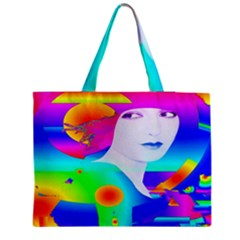 Abstract Color Dream Medium Zipper Tote Bag by icarusismartdesigns