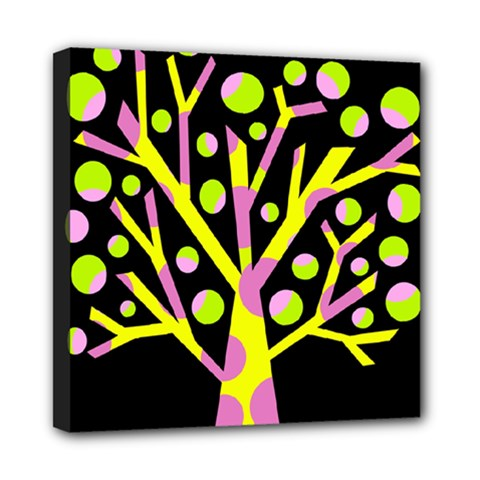 Simple Colorful Tree Mini Canvas 8  X 8  by Valentinaart