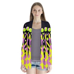 Simple colorful tree Drape Collar Cardigan by Valentinaart